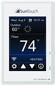 Suntouch Connect 500875 Sb Wi Fi Programmable Touchscreen Floor Heating Thermostat Amazon Com