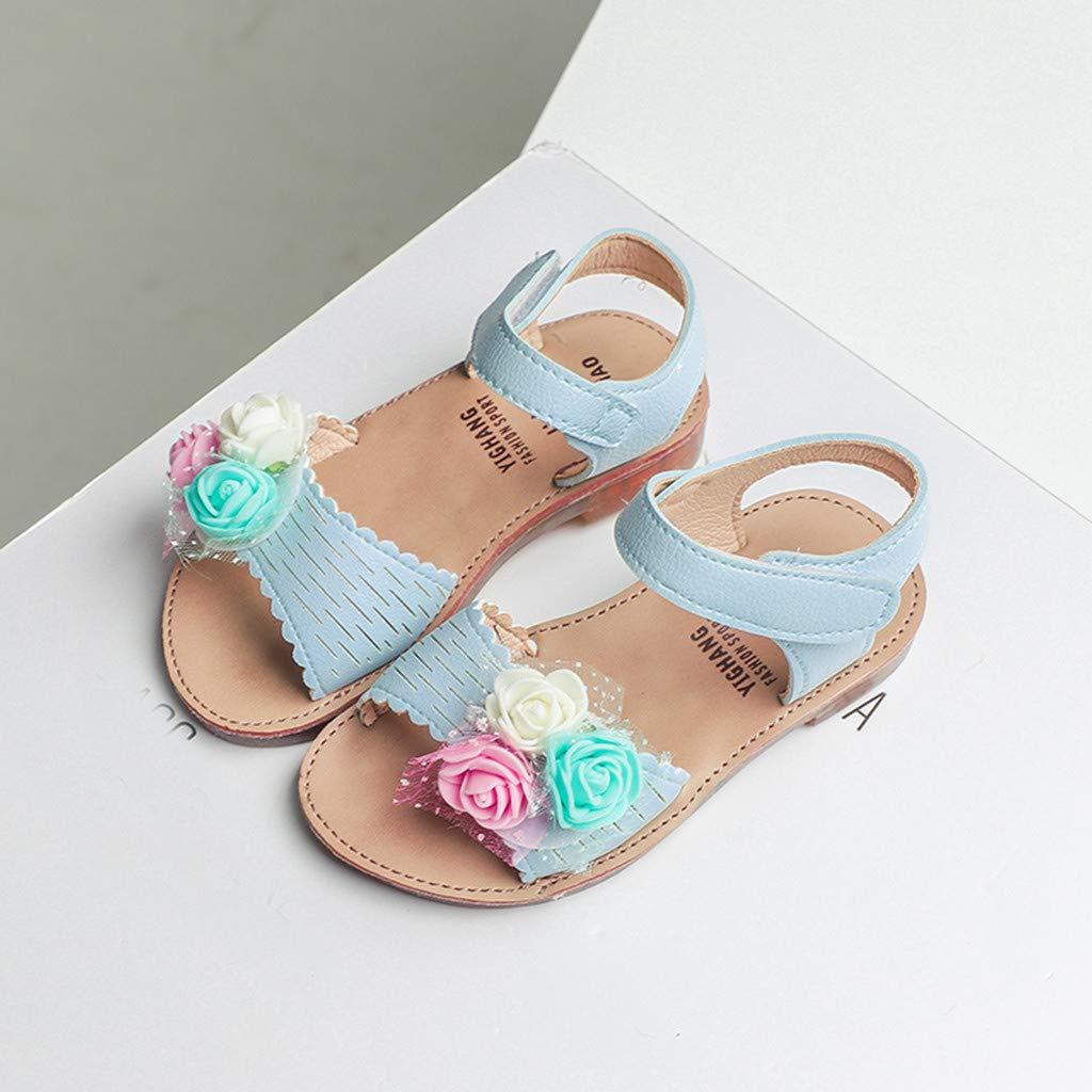Kimanli Toddler Infant Kids Baby Girls Casual Single Flower Hook Shoes Sandals