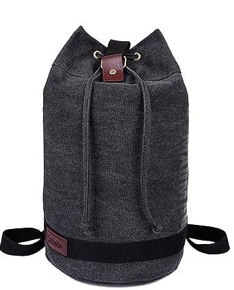 Amazon.com | Chickle Men's Black Canvas Drawstring Duffle Bag ...
