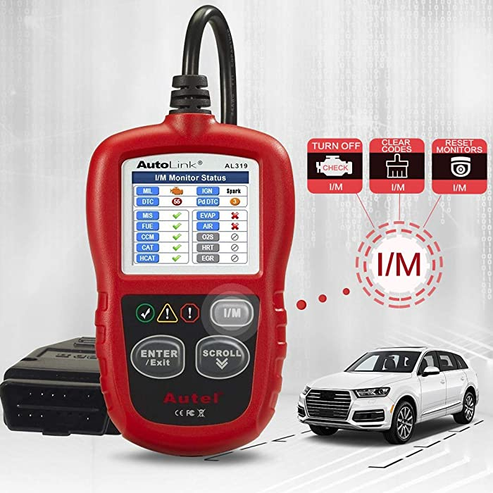Autel's AutoLink AL319 is one of the best enigne code readers