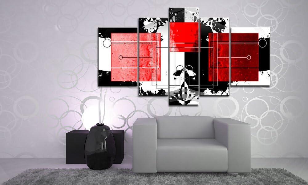 Impresión sobre lienzo{5} XXL más piezas abstracto Art-Nr, M51555 modern cubes de tenis júnior con cuerdas en bastidor listo. Diseño instalado. Buena como al óleo Póster cartel con marco enorme! Made IN