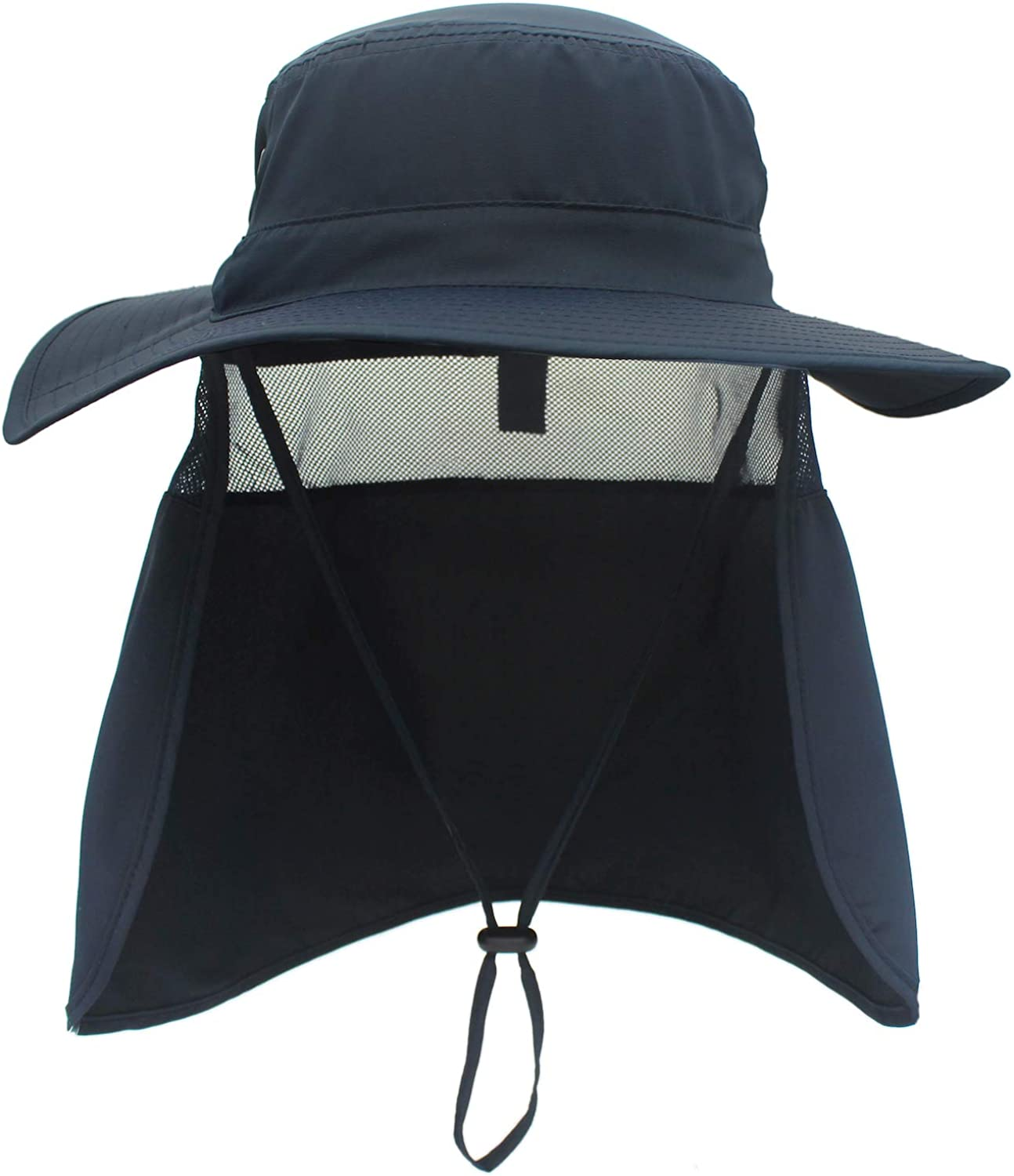 Home Prefer Mens Sun Hat with Neck Flap Quick Dry UV Protection Caps Fishing Hat