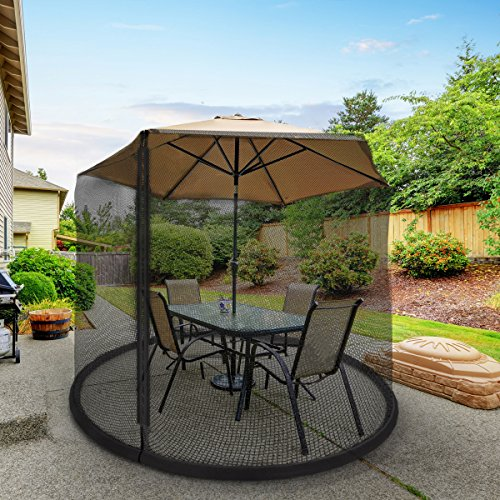 Patio Umbrella Covers With Zipper: Patio Umbrella Cover Mosquito Netting Screen For Patio