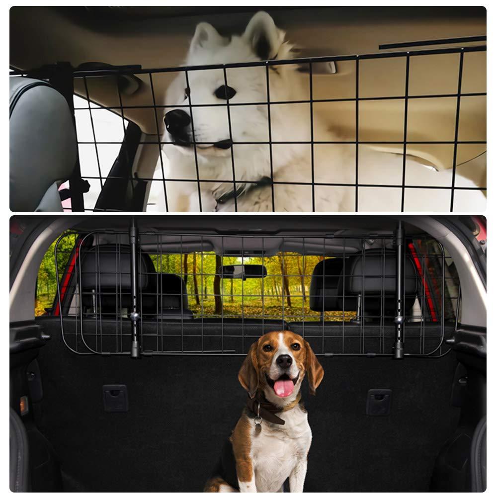 Schutzgitter mit Kopfst/ützen-Befestigung zum Transport f/ür Hund Stufenlos verstellbares Kofferraumschutz Gitter TIMESETL Auto Hundegitter Universal Kofferraum Trenngitter f/ür Hunde