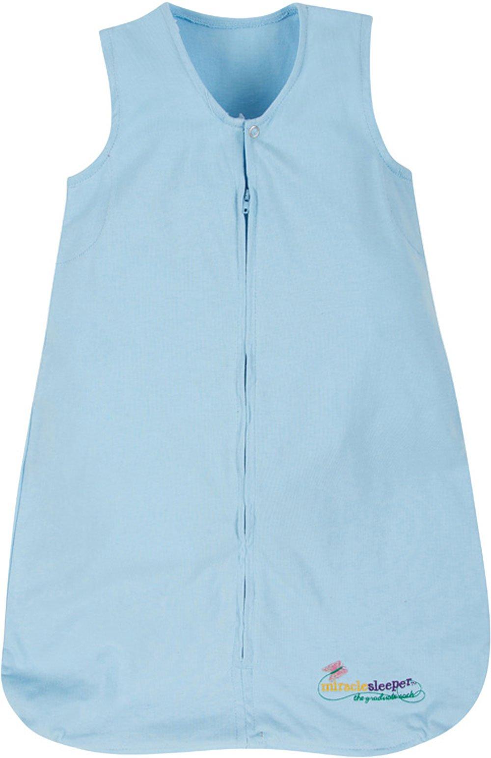 Miracle Blanket Sleeper Wearable Blanket Sack, Blue, Medium (9-18 months)