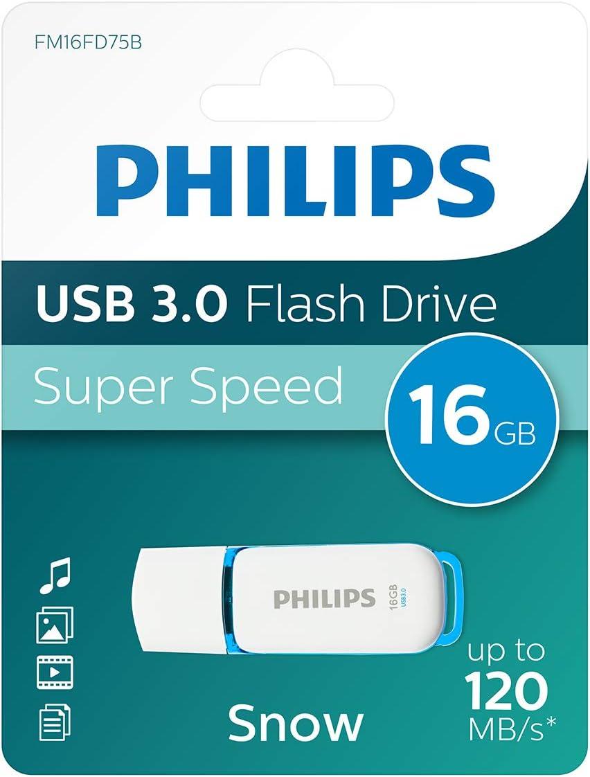 Philips FM16FD75B - Memoria USB de 16 GB, Azul y Blanco