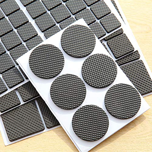 Round Square Shape Self Adhesive, Non-Slip Furniture Pads, Sofa Table Chair Sticky Floor Protector - Round by Sforza (Image #2)