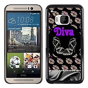 Exotic-Star ( Girl Eve God Eden Drawing White ) Fundas Cover Cubre Hard Case Cover para HTC One M9