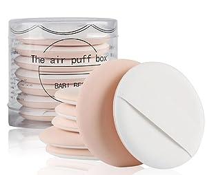 Makeup Air Cushion BB Cream Puff Foundation Sponge Air Powder Puff 7Pcs/Set Wet and Dry Dual-Use Makeup Sponge for BB CC Cream Liquid Foundation Makeup Tools (Beige)