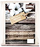 The Allergy Store Zippered Allergycare Cotton Mattress Cover, 16'' Deep, Natural, Full