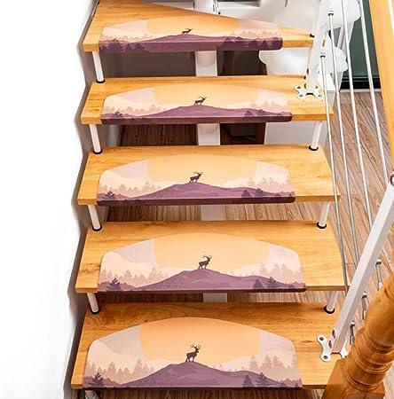 Mute Resistentes A Las Manchas Peldaños Escaleras, Durable Piel Peldaños Alfombra Escalera Partido Siéntase Libre De Recortar Interiores Aire Libre Madera Azulejo Superficie De Mármol-g 20x31inch: Amazon.es: Hogar