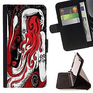 Dragon Case - FOR Samsung Galaxy Note 4 IV - Love is like the moon - Caja de la carpeta del caso en folio de cuero del tir¨®n de la cubierta protectora Shell