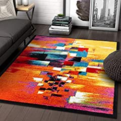 Champlain Multi is a perfect night on the lake that will never leave your memory. Brush stroke lines and abstract, geometric boxes describe a sunset, sparkling in the water. A warm, vibrant multi-colored palette makes this modern, cubist insp...