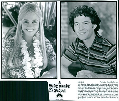 Vintage photo of Christine Taylor and Christopher Daniel Barnes in a poster of the movie,