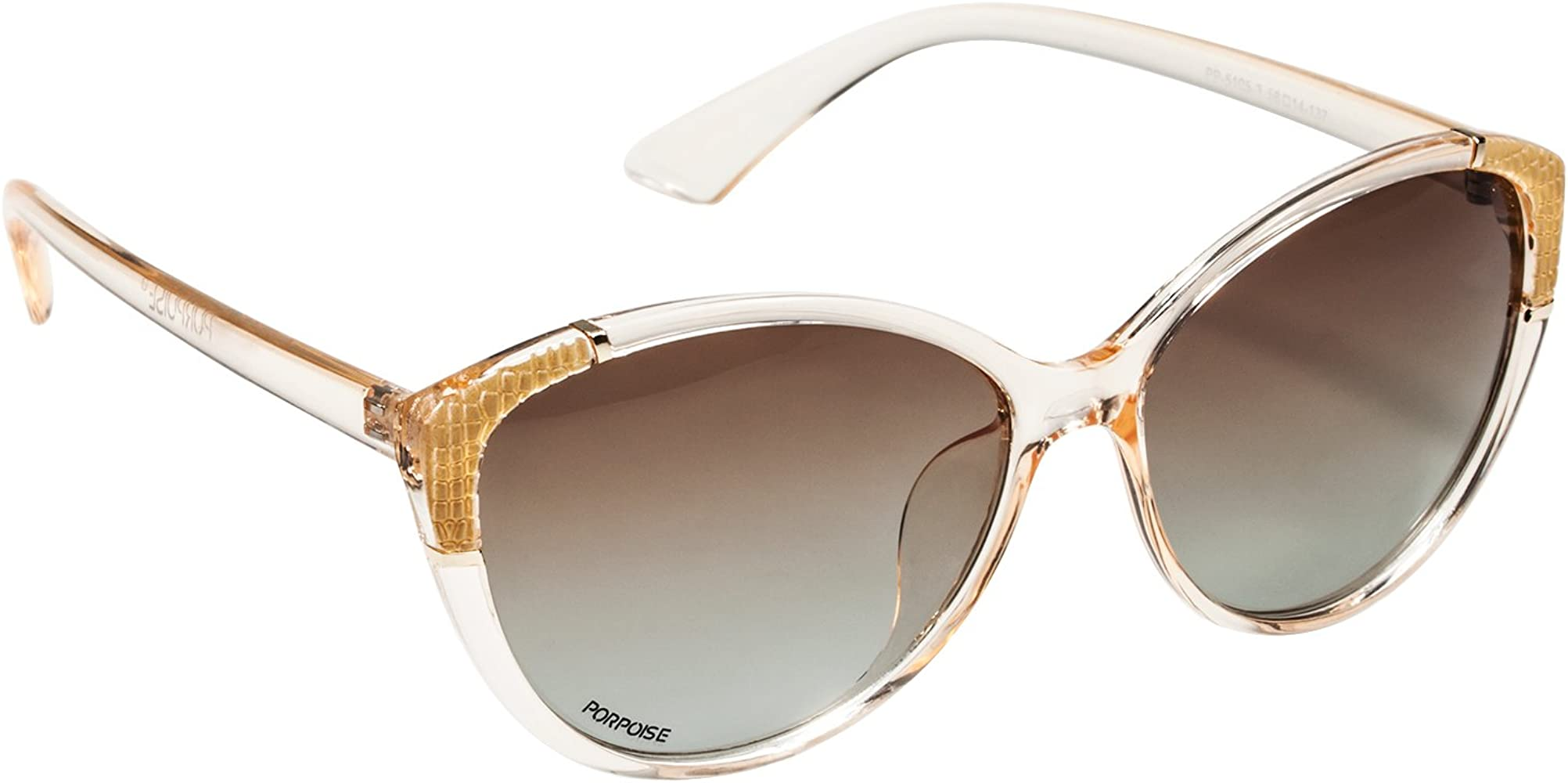 PORPOISE Gafas de sol - para mujer Dorado champán: Amazon.es ...