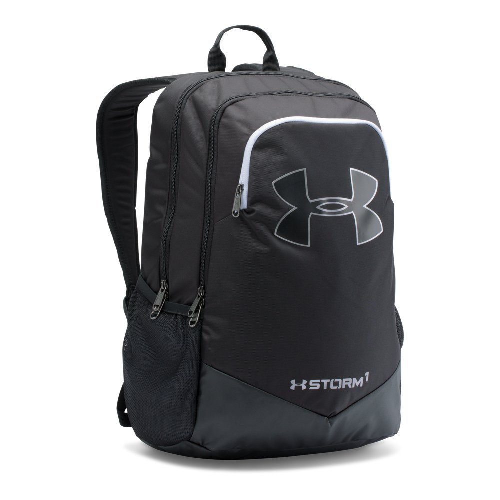 Under Armour Boy's Storm Scrimmage Backpack, Black (001)/Silver, One Size by Under Armour