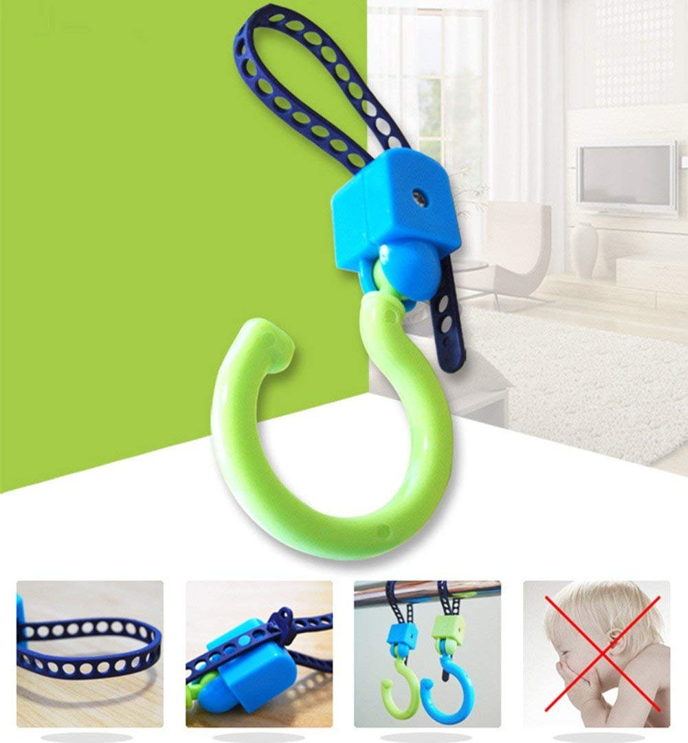 Stroller Hook - Multi Purpose Hooks - Hanger for Baby Diaper Bags, Groceries, Clothing, Purse - Great Accessory for Mommy When Jogging, Walking or Shopping @LINKALL