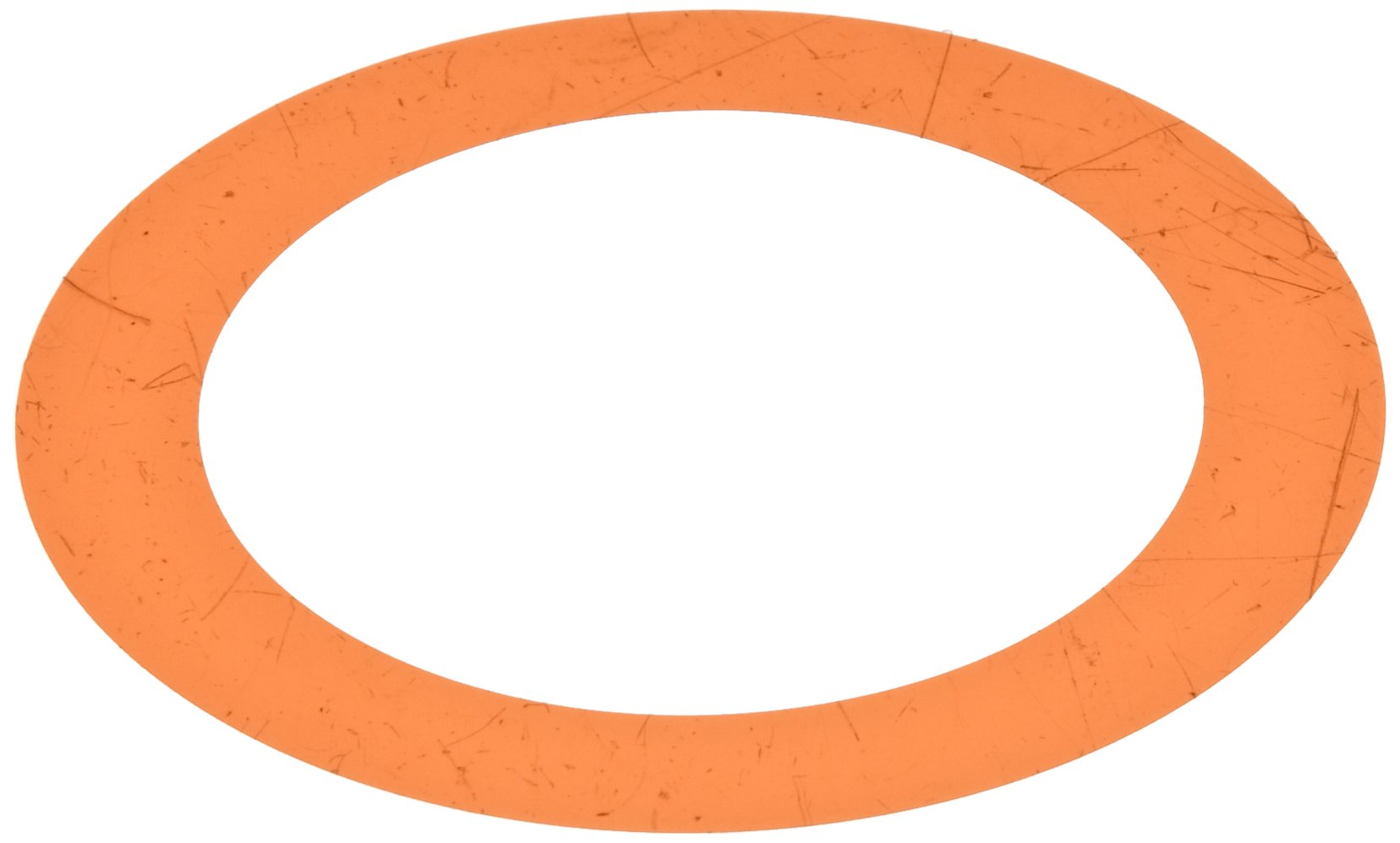 Polyester Round Shim, Amber, 0.001'' Thickness, 7/8'' ID, 1-3/8'' OD (Pack of 10) by Small Parts