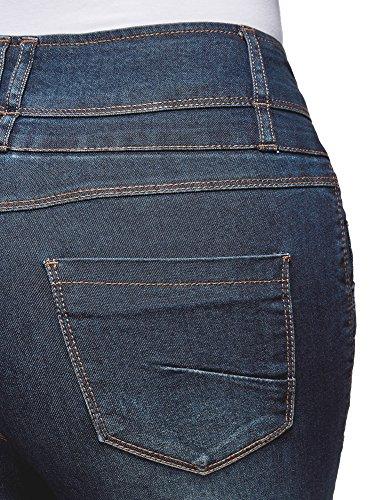 Bleu Haute 7900w oodji Taille Skinny Femme Ultra Jean nnCqgY