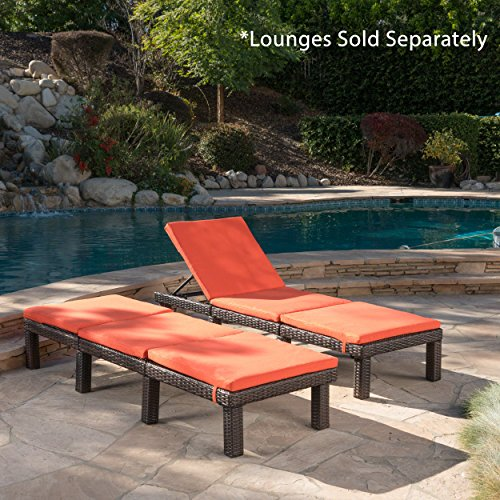 Great Deal Furniture Jessica Outdoor Orange Water Resistant Chaise Lounge Cushion (Set of 2) by Great Deal Furniture