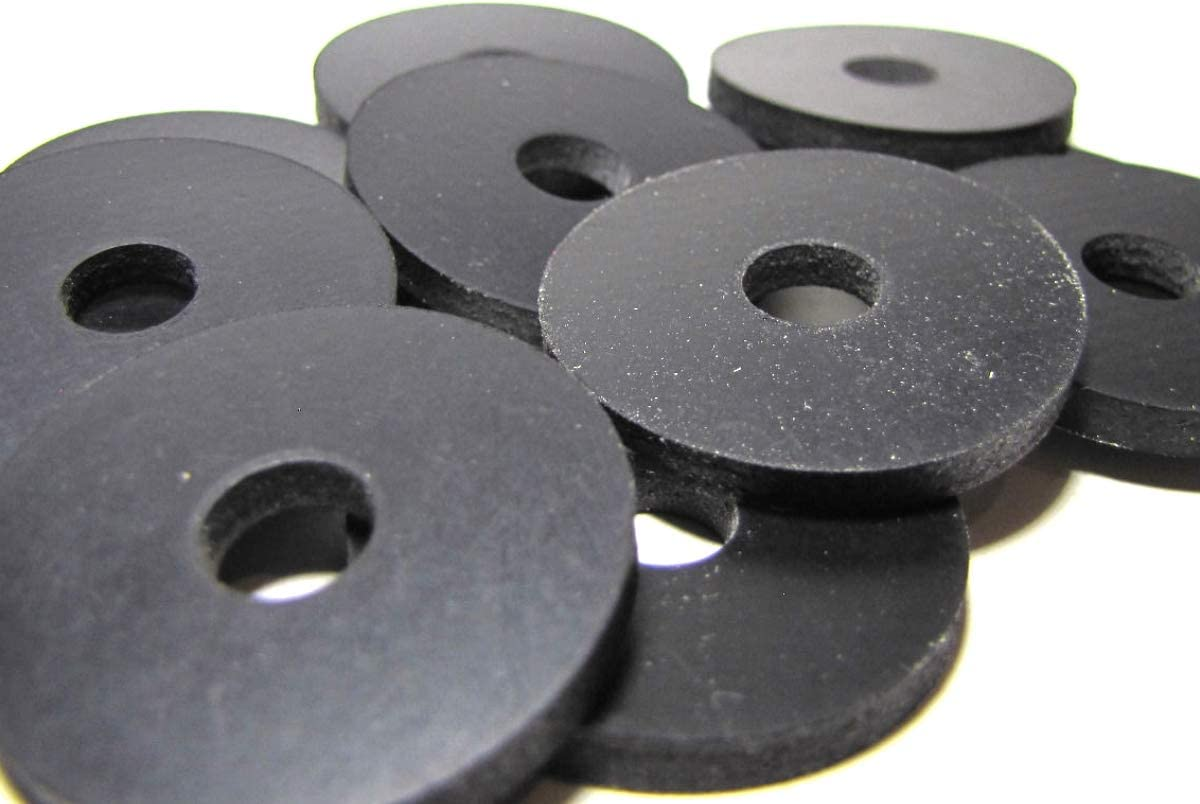 D #YY34E NYM222 10 Pcs Large Rubber Washers 1//8 Thick x 5//8 ID x 1 1//4 OD