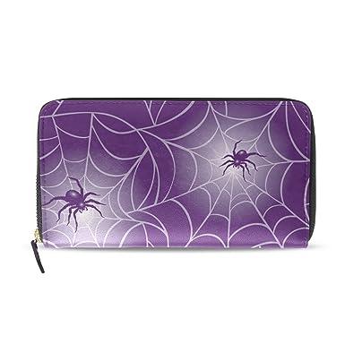 Amazon.com: sunlome Halloween morado tela de araña impresión ...