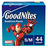 Health & Personal Care : GoodNites Bedtime Bedwetting Underwear for Boys, S-M, 44 Ct. (Packaging May Vary)
