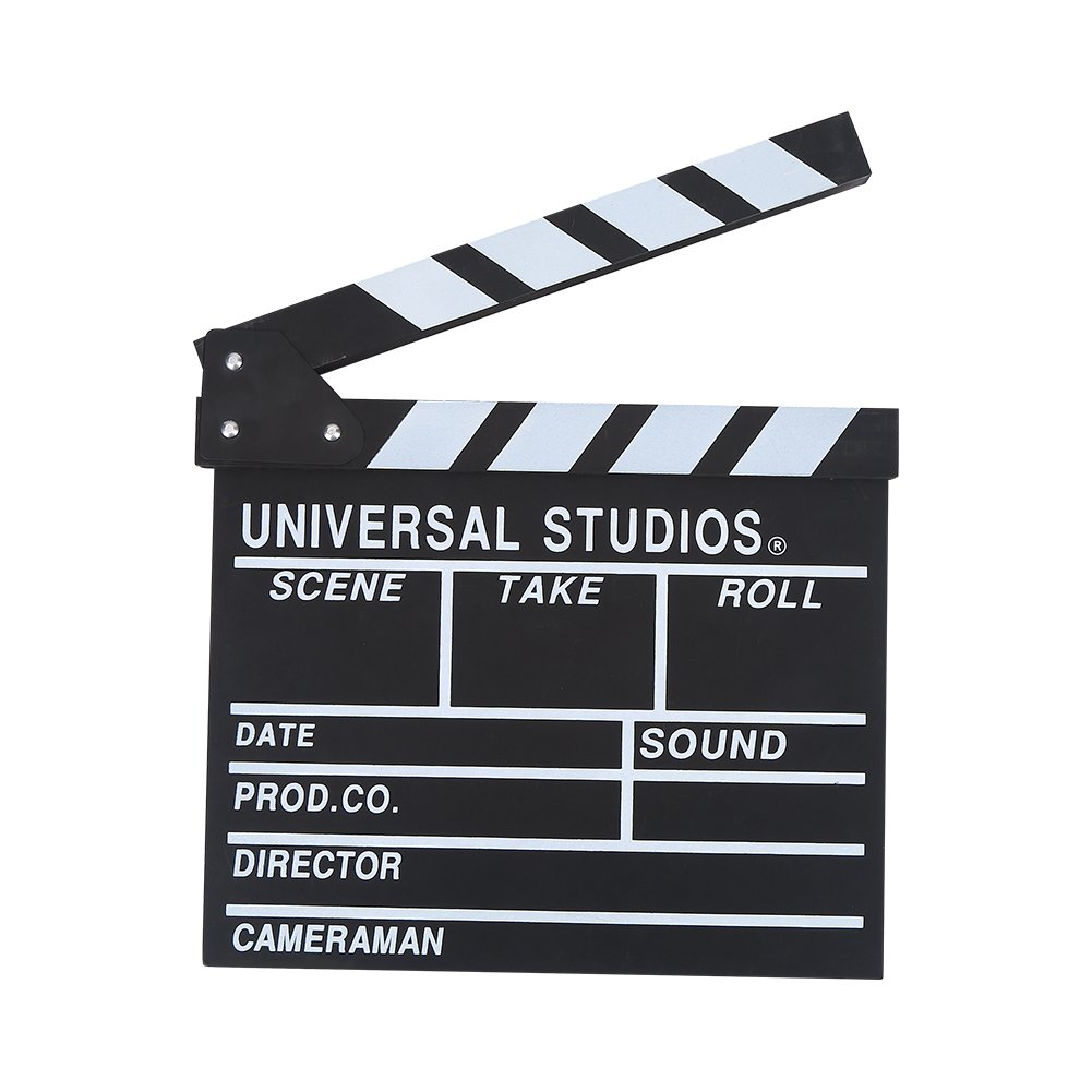 Acouto Wooden Director Scene Clapperboard TV Movie Clapper Board Film Cut Prop by Acouto