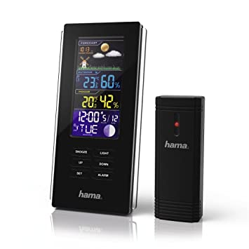 Hama Funk Wetterstation Mit Farbdisplay Inkl Außen Sensor