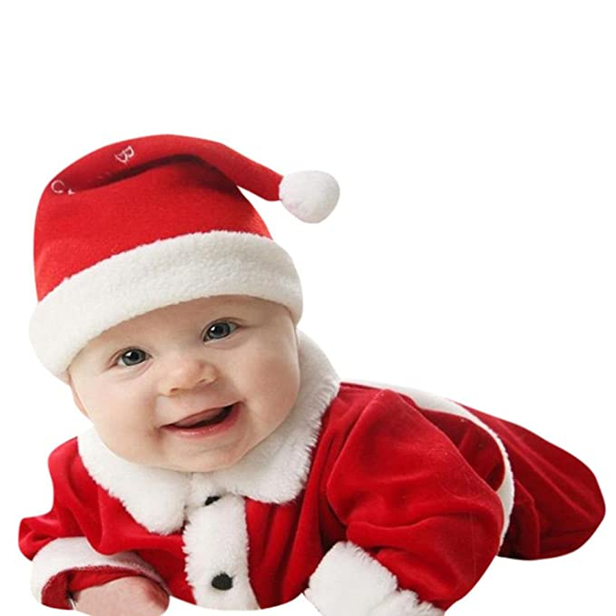 Fheaven Baby Christmas Outfits, Infant Baby Xmas Party Clothes Costume Tops  Pants Hat 3Pcs/ - Amazon.com: Fheaven Baby Christmas Outfits, Infant Baby Xmas Party