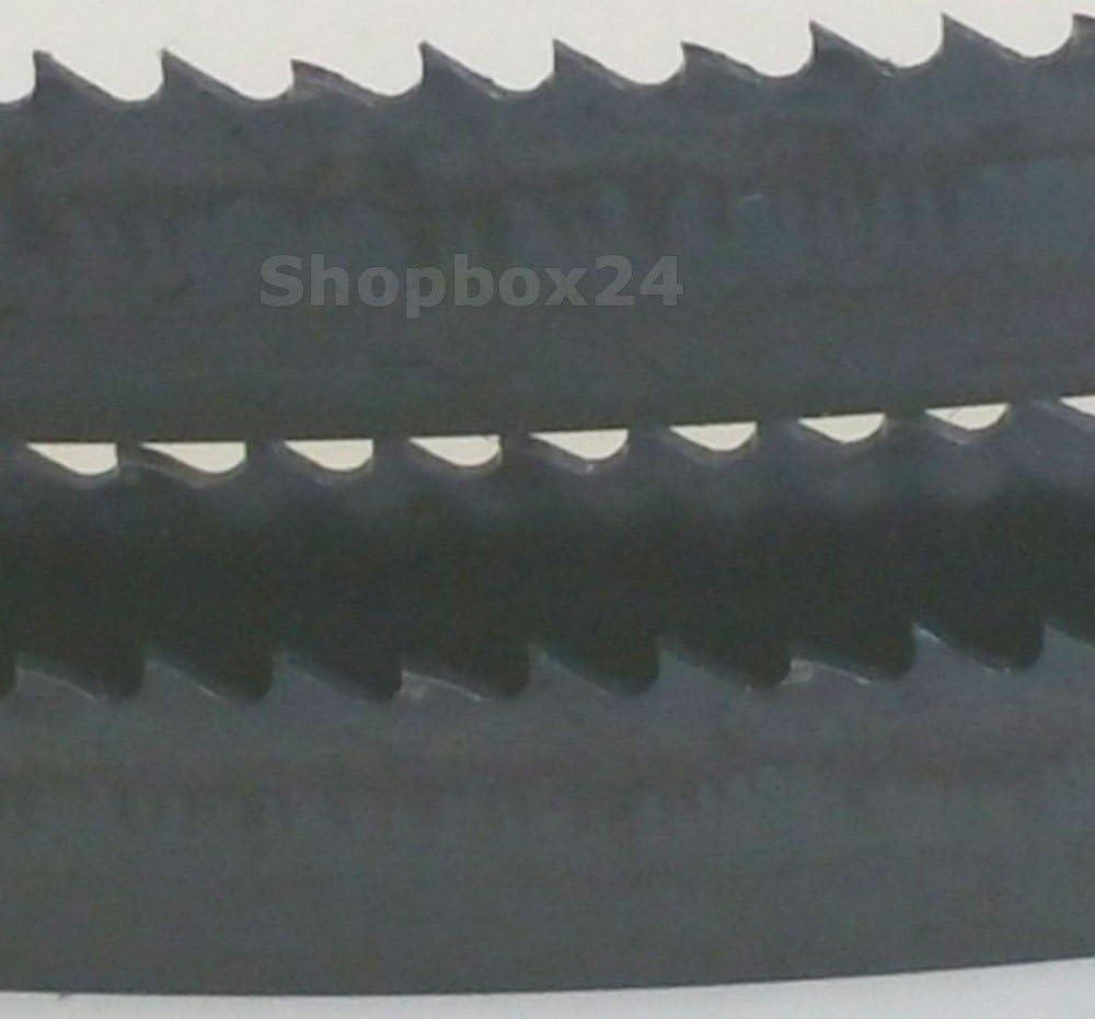 mit 3 x Premium S/ägeband S/ägeb/änder 1400 mm x 6 mm x 0,36 mm x verschiedene Zahnungen 8 Brennholz Sperrholz Mix Hartholz f/ür Holz weiche Metalle Quer- und Schweifschnitte Kunststoff