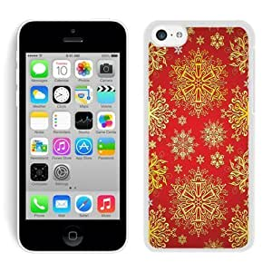 2014 Newest Iphone 5C TPU Case Christmas Golden Pattern White iPhone 5C Case 1