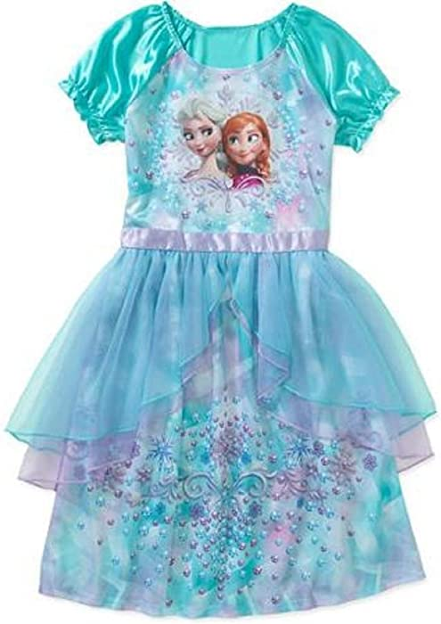 13af3145a Amazon.com  DISNEY Frozen Girls  Fantasy Gown with Anna Elsa