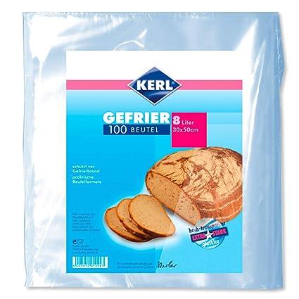 Kerl 4003450010243 - Bolsas para congelados (8 L, 30 x 50 cm ...