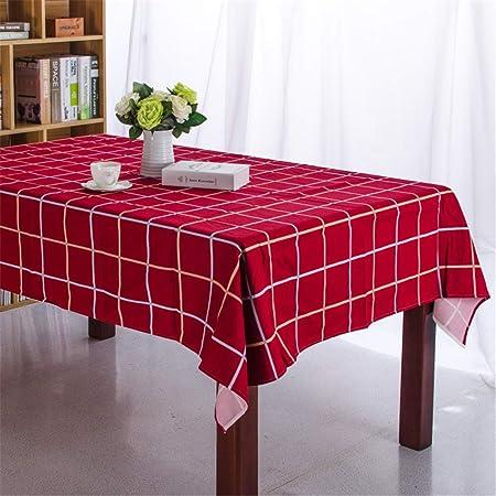 DHHY Mantel Acolchado de algodón Mantel Rectangular de Tela Escocesa Mantel de decoración del día de Navidad Rojo 60x60cm / 24x24 Inch: Amazon.es: Hogar