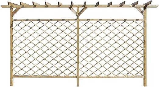 festnight cerca (treilles Pergola de madera para jardín, terraza o patio 393,5 X 200 cm: Amazon.es: Hogar