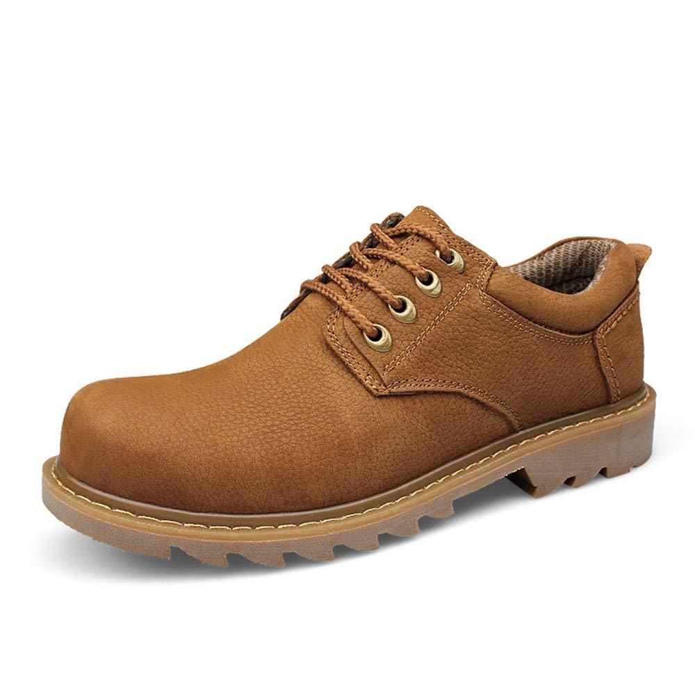 Light marron JDDRCASE Nouveau Style Bottes décontractées pour Hommes Occasionnels de Haute qualité, Tendance, Taille Basse, Chaussures Confortables de Grande Taille et de Grande Taille 40 EU