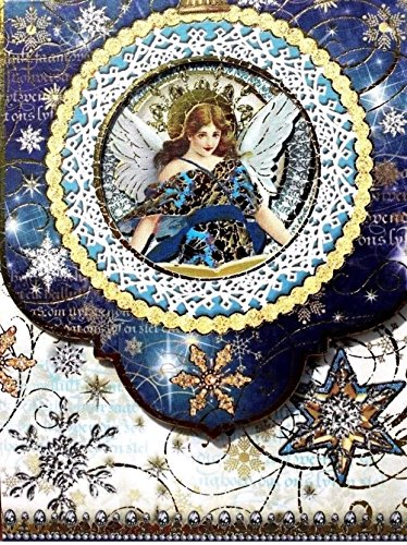 Punch Studio Window Mini Pocket Notepad ~ Celestial Sparkle Angel 46547