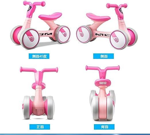 MYMAO 01Bebé Equilibrio Bici, Mini Bici bebé Caminante Juguete niño Bicicleta sin Pedales al Aire Libre conducción Interior Aprendizaje Juguetes 1-3 año Viejo niño y niña,1006pink: Amazon.es: Hogar