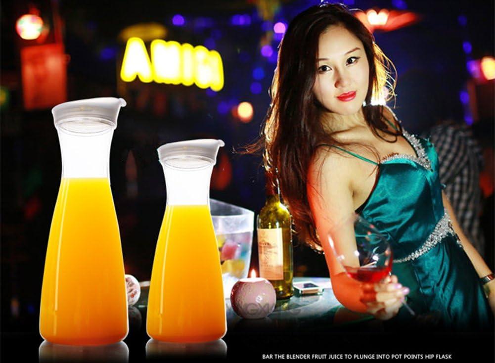 Pitcher Carafes with Lid for Juice 55 oz Plastic Carafe with Lid for Juice with Lid Decanter Drink Bottle 1.6 Liter Pitcher Beverage Container Kettle Carafes for Juice Plastic