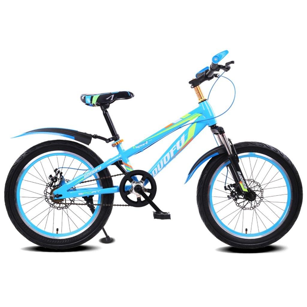 子供用自転車16/18/20インチマウンテンバイク5-8/7-10/10-14歳赤ちゃんキャリッジハイカーボンスチール自転車、ブルーブラック/レッドブラック/グリーンブラック/ブルー (Color : 16 inch blue) B07D1KDCLJ