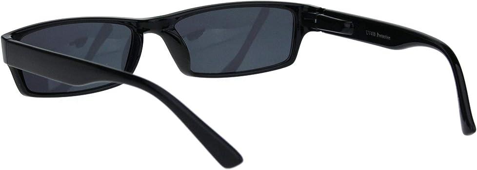 7874b091db Mens 90s Classic Narrow Rectangular Black Plastic Rim Dad Sunglasses. Mens  90s Classic Narrow Rectangular Black Plastic Rim Dad Sunglasses