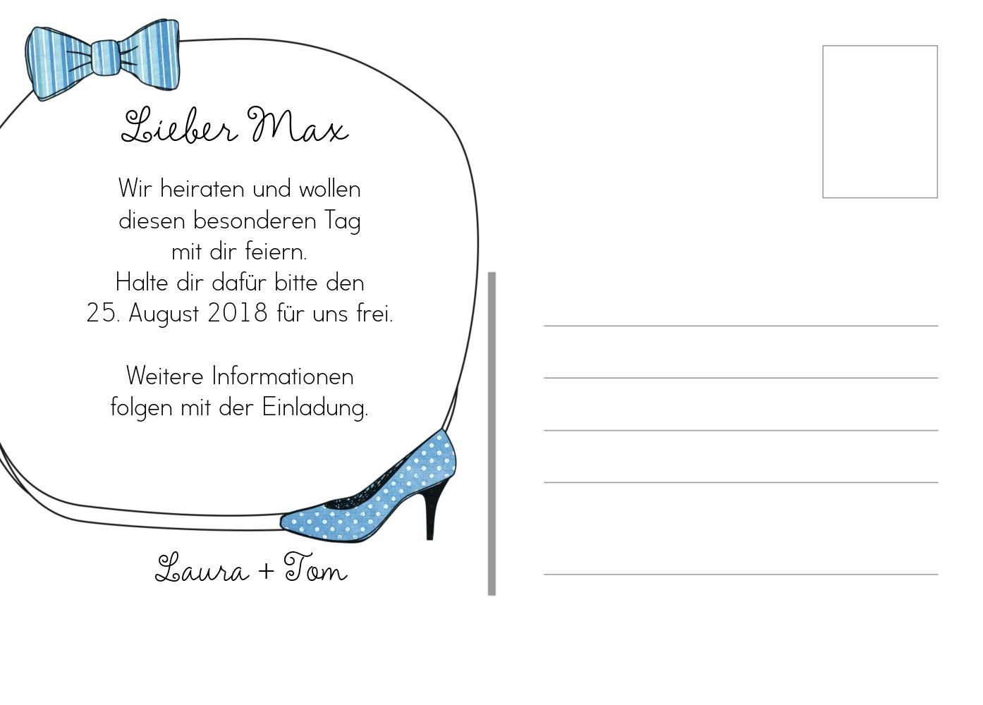 Save the Date Date Date High Heel und Fliege, 30 Karten, HellRot B07B6MZNPZ | Outlet  | Sonderpreis  | Merkwürdige Form  6ac781