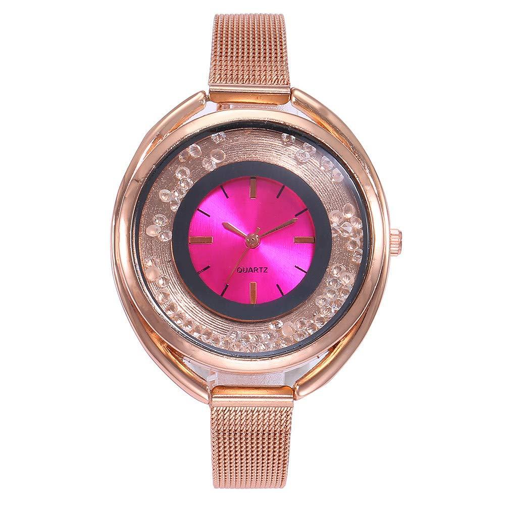JiaMeng Damas Mujeres Pura Cara de Moda de Malla de Relojes Relojes de Pulsera de Mujer analógico de Cuarzo Casual Regalo Relojes (Azul): Amazon.es: Ropa y ...