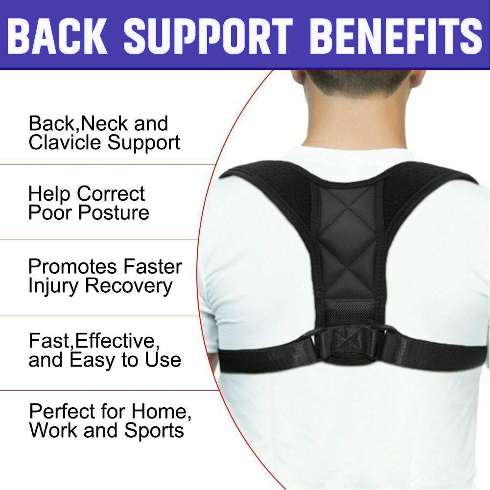 Fits Chest Size 37-45 Posture Corrector for Men and Women Upper Back Straightener Brace Clavicle Support Adjustable for Thoracic Kyphosis,Providing Shoulder Neck Pain Relief