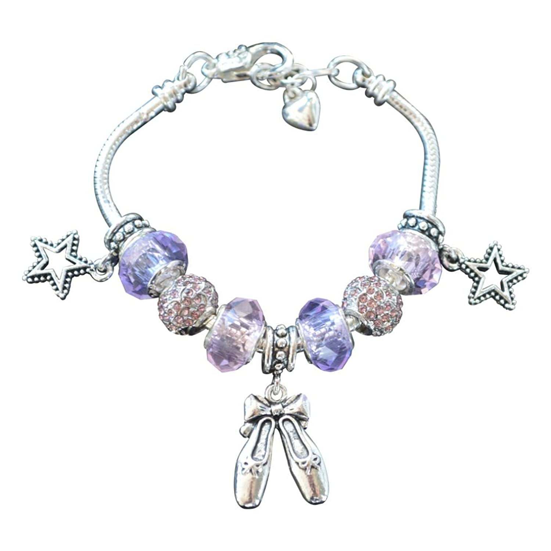 Amazon Dance Charm Bracelet Girls Dance Jewelry European