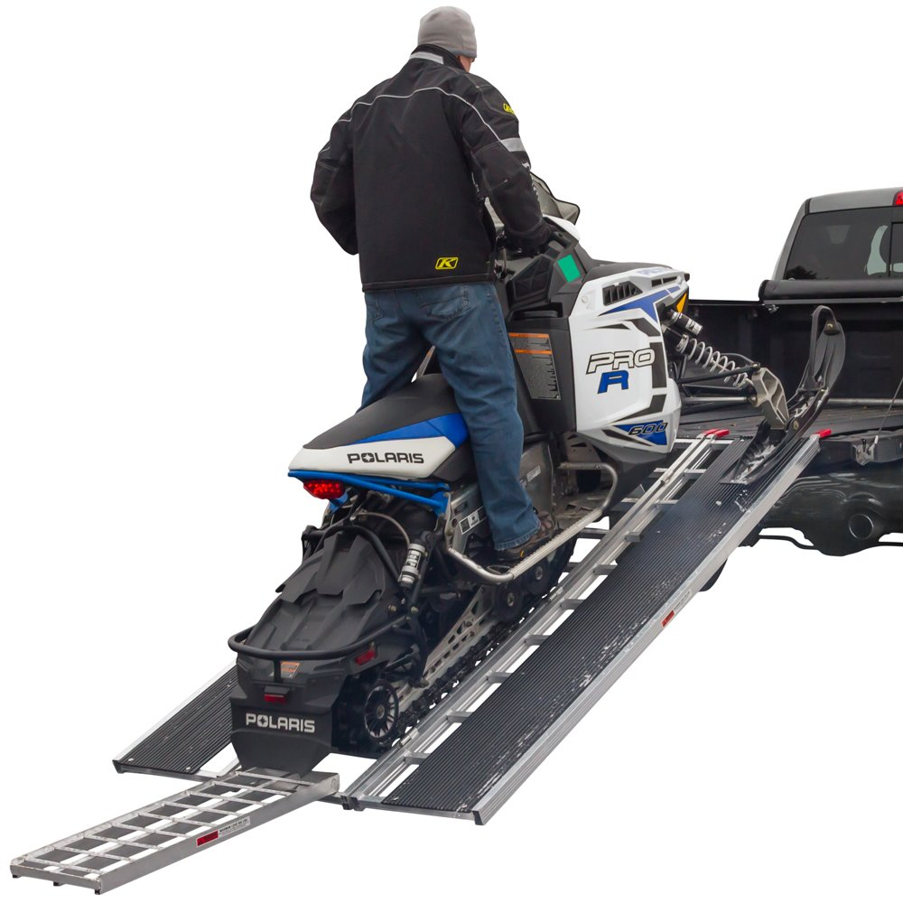 94'' x 54'' Snowmobile Loading Ramp with Center Track Extension