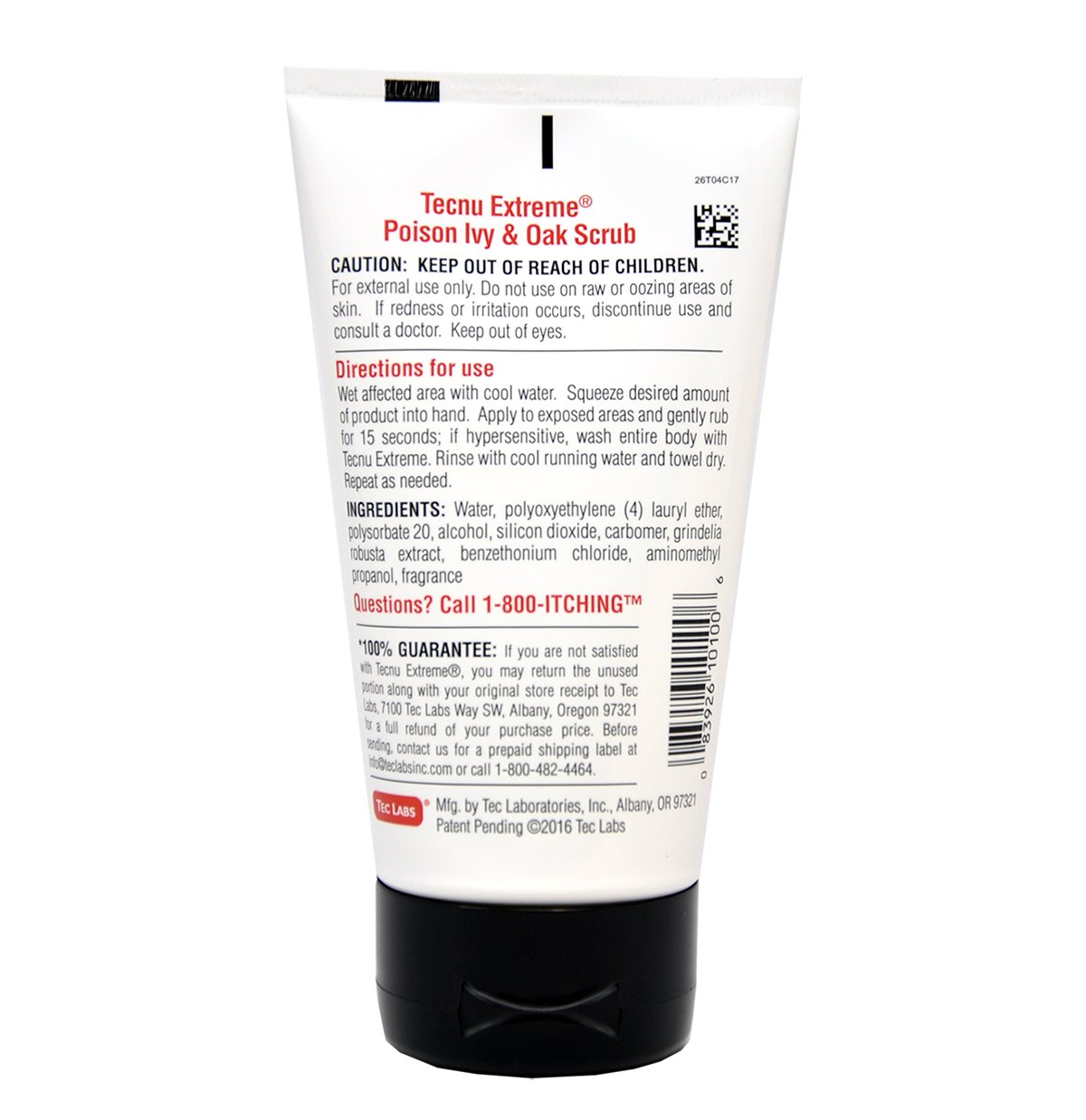Tecnu Extreme Poison Ivy & Oak Scrub—Removes Toxin from Skin that Causes Poison Ivy and Poison Oak Rash, 4-ounce Tube by Tecnu (Image #2)