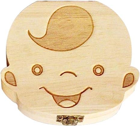 Caja de Madera para Dientes para Bebé Hecha a mano NIÑO. Cajitas dental para almacenar los