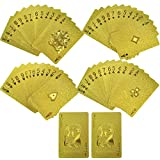 Freefa Luxury Playing Cards Deck Carta Durable Waterproof Luxury 24K Gold Foil Poker Playing Cards